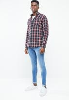 Jack & Jones - California slim fit shirt - burgundy
