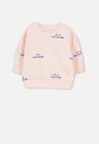 Cotton On - Skyler drop shoulder crew - pink