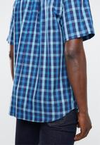 Pringle of Scotland - Bailey short sleeve shirt - navy & blue