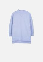 Cotton On - Olivia oversize high neck fleece top - blue