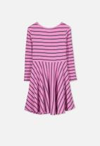 Cotton On - Riley long sleeve dress - fuchsia