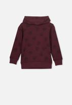 Cotton On - Liam hoodie - burgundy