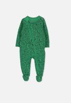 Cotton On - Mini zip through romper - green