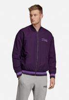 adidas Originals - Kaval varsity padded jacket - purple