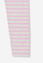 Cotton On - Huggie striped tights - pink & grey