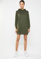 Brave Soul - Hooded jumper dress - green