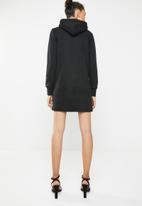 Brave Soul - Hooded jumper dress - black