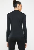 Brave Soul - Long sleeve roll neck with side stripe - black