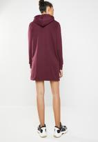 Brave Soul - Hooded jumper dress - burgundy
