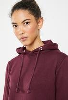 Brave Soul - Hooded jumper dress - burgundy