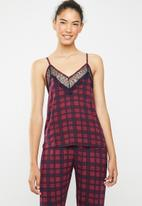 New Look - M&M check cami - red & navy