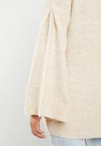 Brave Soul - Flared sleeve cardigan - cream