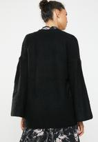 Brave Soul - Flared sleeve cardigan - black