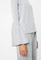 Brave Soul - Long sleeve top with bell sleeves - grey