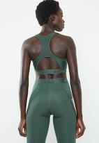adidas - Ask 3 stripe sports bra - green