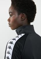 KAPPA - 222 Banda wanniston slim track jacket - A62 black & white