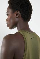 Nike - Nk tank cut in knit wvn - green & navy