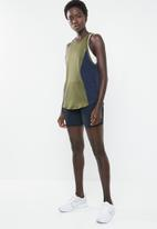 Nike - Nk tank cut in knit wvn - green & navy