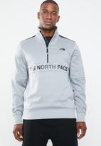 The North Face - M train n logo 1/4 zip - grey