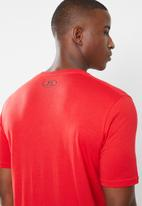 Under Armour - UA big logo short sleeve tee - red