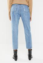 Superbalist - Ripped mom jeans - blue