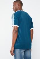 adidas Originals - 3 stripes tee - blue & white