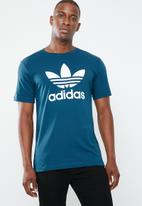 adidas Originals - Trefoil crew tee - blue & white