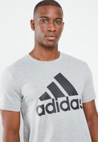 adidas Performance - Bos crew tee - grey melange