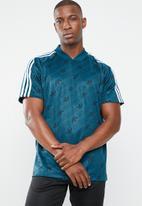 adidas Originals - Monogram short sleeve jersey tee - blue & black