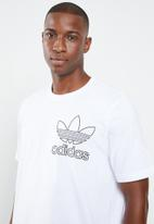 adidas Originals - Outline short sleeve crew tee - white & black