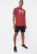 Under Armour - Sportstyle logo short sleeve tee - burgundy