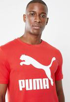 PUMA - Classics logo tee - red
