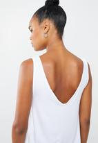 Superbalist - 2 Pack V-neck vest - grey & white