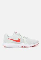 Nike - Flex trainers - barely grey/ember glow - sail