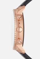 Fossil - Gen 4 smartwatch - explorist HR black leather