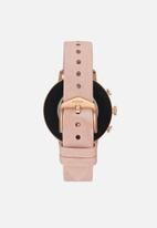 Fossil - Gen 4 smartwatch - venture HR blush leather