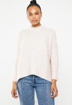 Superbalist - Soft touch turtle neck knit - pink