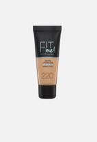 Maybelline - Fit me matte poreless foundation - 220 natural beige