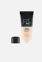 Maybelline - Fit me matte poreless foundation - 110 porcelain