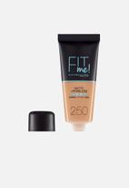 Maybelline - Fit me matte poreless foundation - 250 sun beige