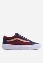 Vans - Old Skool - (Textured Suede) sailor blue/port