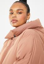 Missguided - Hooded ultimate padded jacket - dirty pink
