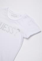 GUESS - Short sleeve double hearts tee - white