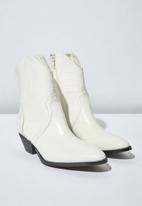 Cotton On - Larissa western boot - white