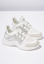 Cotton On - Textile chunky trainer - white