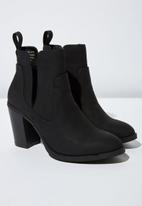 Cotton On - Faux suede cut out boot - black