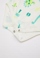 Baby Corner - Dino 3 pack short sleeve bodysuits - multi
