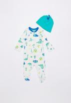 Baby Corner - Dino patterned sleepsuit & hat set - multi