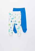 Baby Corner - Dino 2 pack footed pants - multi