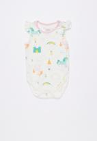 Baby Corner - Unicorn 2 pack frilly bodysuit - multi